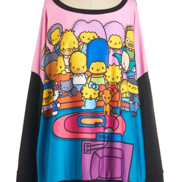 44120f61e JapanLA Sweaters | The Simpsons X Hello Kitty For Sweater | Poshmark